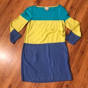 Anthropologie colorblock shift dress by Maeve